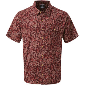 Sherpa Kiran Short Sleeve Shirt Men ganden red print